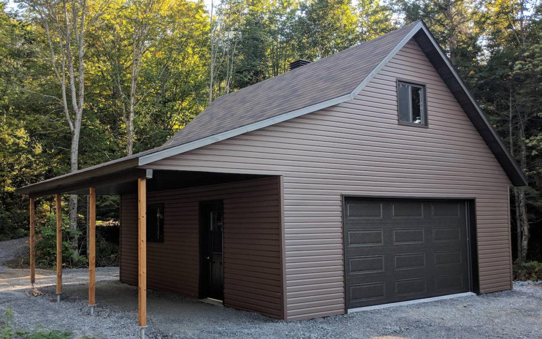 Garage préfabriqué 24′ X 24′